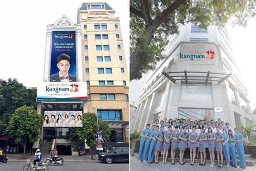 thẩm mỹ viện kangnam có mấy chi nhánh