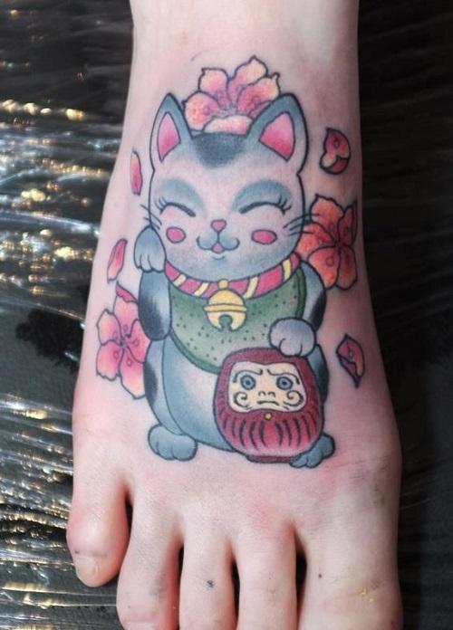 hình tattoo daruma