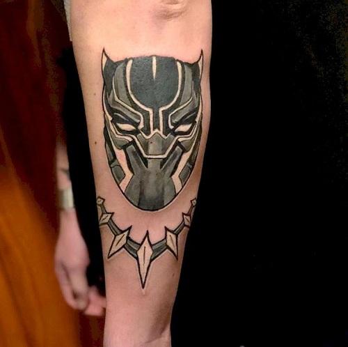hình xăm black panther đẹp