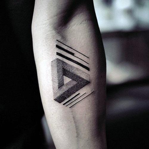 tattoo tam giác 3d