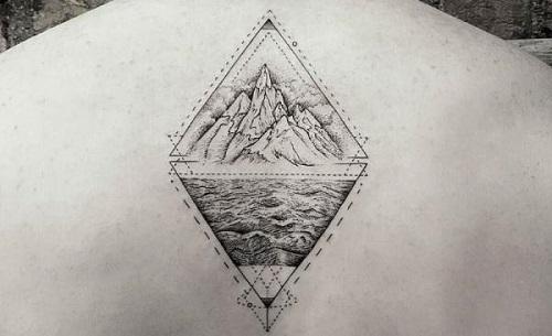 ý nghĩa hình xăm 2 tam giác đối nhau