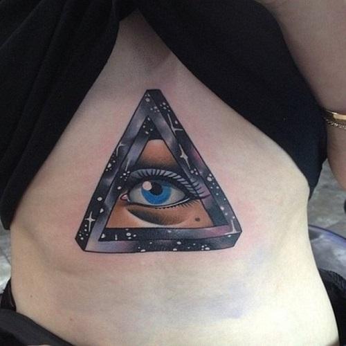 ý nghĩa hình xăm tam giác có con mắt