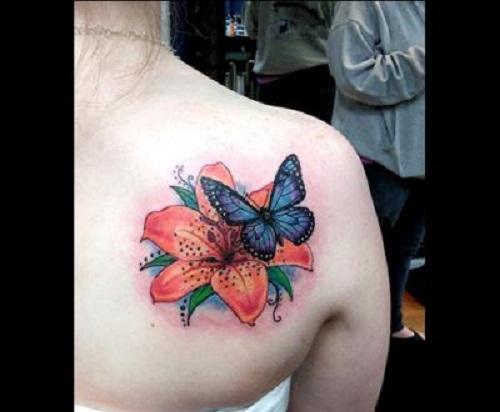 hình xăm bướm đơn giản