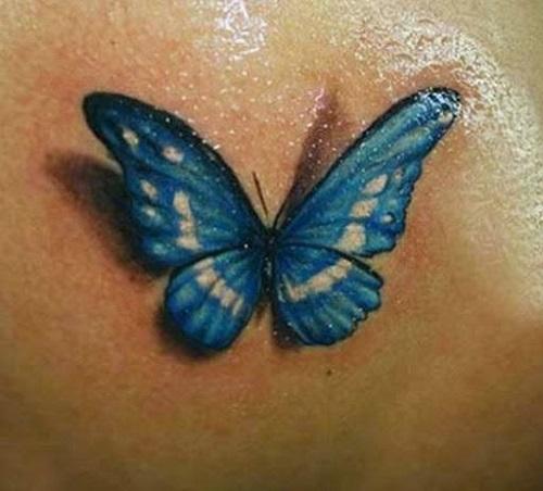 hình xăm bướm nhỏ