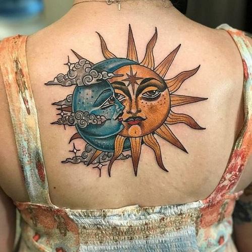 hình xăm hoa mặt trời