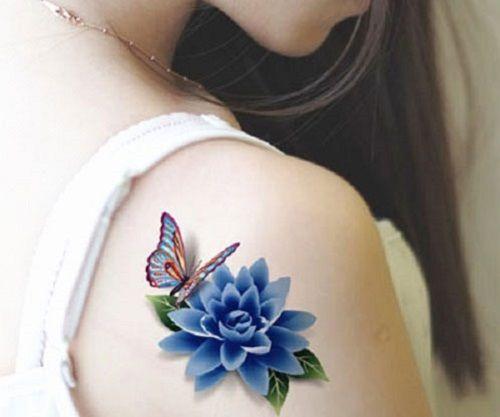 hình xăm hoa sen đẹp