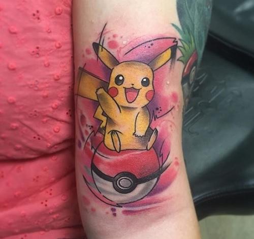 hình xăm pikachu ấn tượng nhất