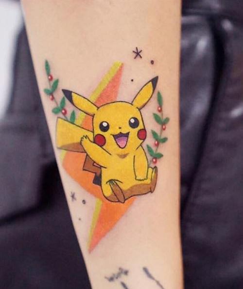 hình xăm pikachu