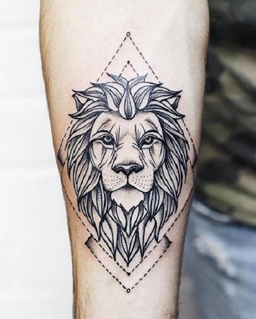 hình xăm sư tử nhỏ