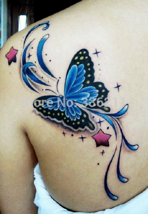 hình xăm con bướm 3d