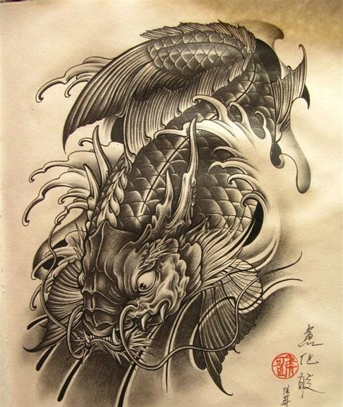 xăm hình cá chép hóa rồng