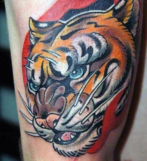 hình xăm con hổ 3d