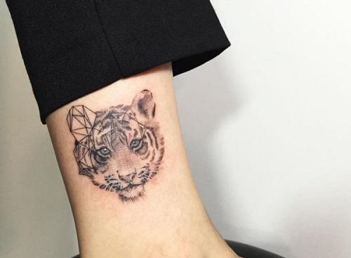 hình xăm con hổ mini