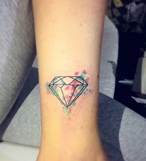 hình xăm kim cương nhỏ