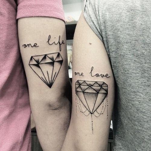 hình xăm mini cho cặp đôi yêu nhau