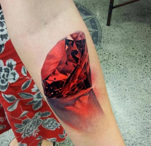 tattoo kim cương 3d