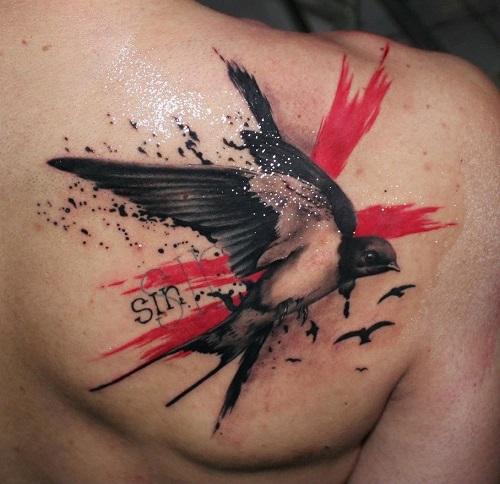 ý nghĩa hình xăm con chim én