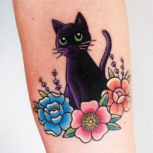 ý nghĩa hình xăm mèo đen