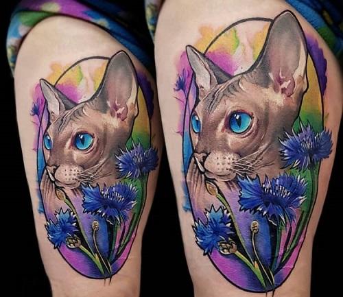ý nghĩa hình xăm mèo