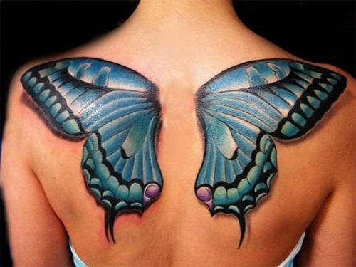 xăm hình bướm 3d