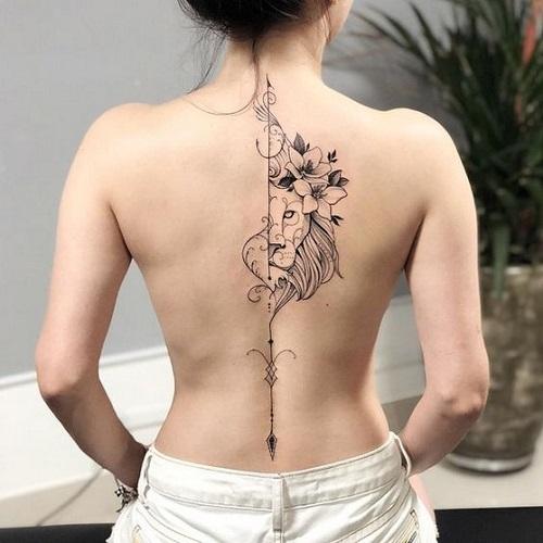 hình xăm đẹp cho nữ ở lưng