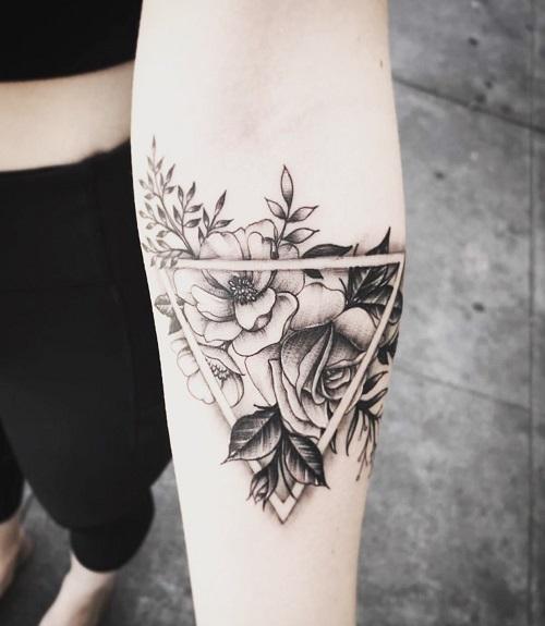 hình xăm hoa cho nữ